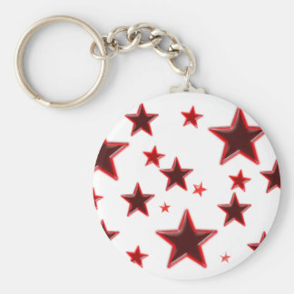 Étoile rouge porte-clé rond