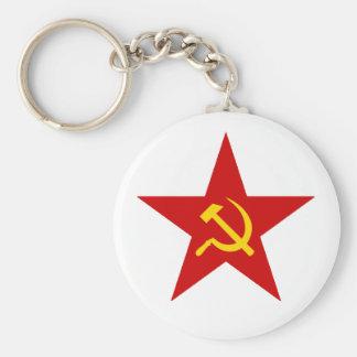 Étoile rouge porte-clé