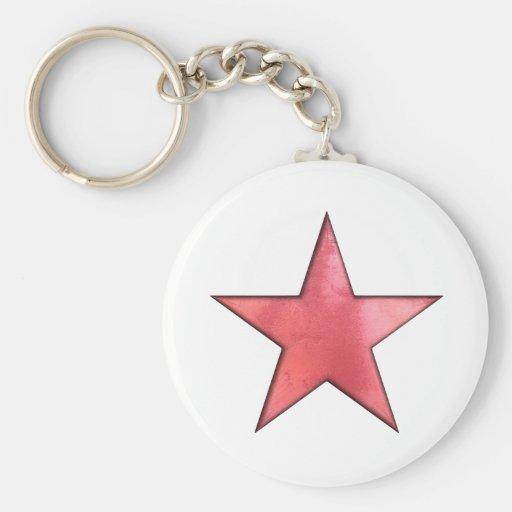 étoile rouge porte-clés