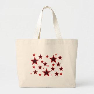 Étoile rouge sac en toile jumbo
