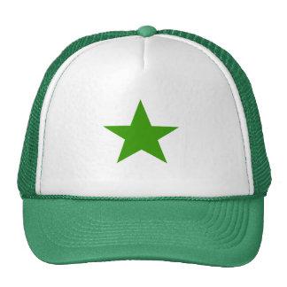 Étoile verte casquettes