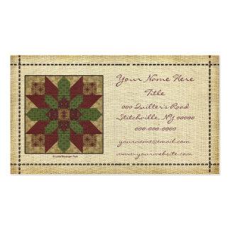 Étoile verte piquée de Bourgogne Modèles De Cartes De Visite