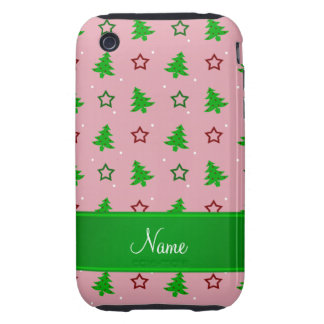 Étoiles assez roses nommées personnalisées de Noël Étui Tough iPhone 3