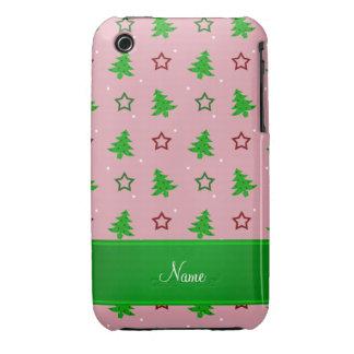 Étoiles assez roses nommées personnalisées de Noël Coques iPhone 3 Case-Mate