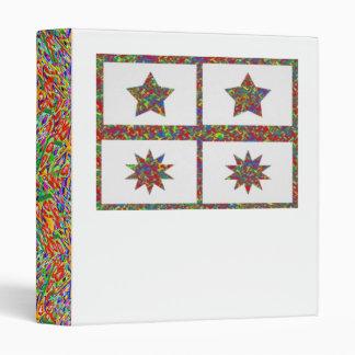 étoiles chanceuses d'étincelle de 5 et 10 points classeur vinyle