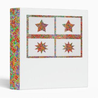 étoiles chanceuses d'Ornamental d'étincelle de 5 Classeur Vinyle