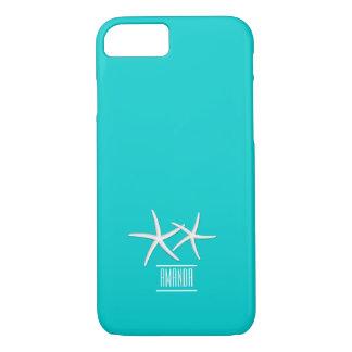 Étoiles de mer bleues modernes de Tiffany avec le Coque iPhone 7