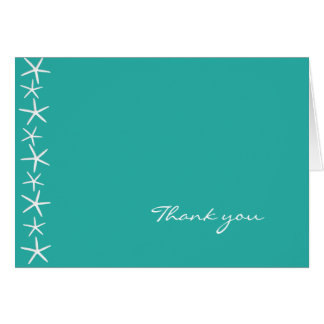 Étoiles de mer, lagune bleue, carte de remerciemen