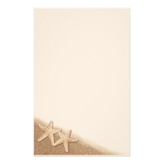Étoiles de mer sur la papeterie de plage papier à lettre personnalisé