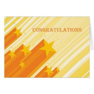 Étoiles d'or, félicitations carte de vœux
