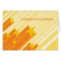 Étoiles d'or, félicitations cartes de vœux