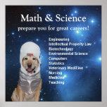 Étoiles mignonnes de laboratoire d'espace de maths posters