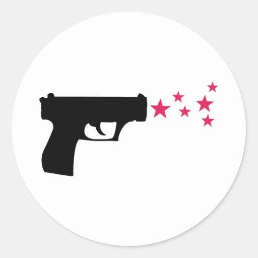 étoiles noires de pistolet d'étoile d'arme à feu adhésif