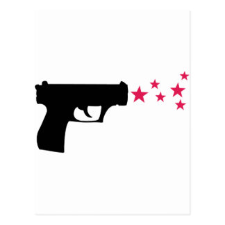 étoiles noires de pistolet d'étoile d'arme à feu cartes postales