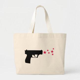 étoiles noires de pistolet d'étoile d'arme à feu sac en toile