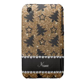 Étoiles nommées d'arbres de Noël de scintillement Coques Case-Mate iPhone 3