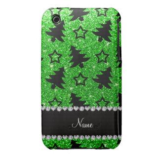 Étoiles nommées d'arbres de Noël de scintillement Coque Case-Mate iPhone 3