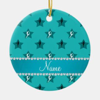 Étoiles nommées personnalisées de gymnastique de ornement rond en céramique