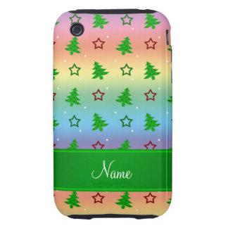 Étoiles nommées personnalisées de Noël d arc-en-ci Coques iPhone 3 Tough
