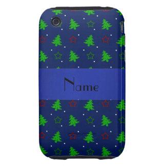 Étoiles nommées personnalisées de Noël de bleu Coque iPhone 3 Tough