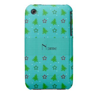 Étoiles nommées personnalisées de Noël de turquois Coques iPhone 3 Case-Mate