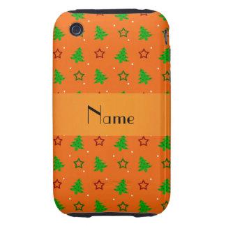 Étoiles oranges nommées personnalisées de Noël Étui iPhone 3 Tough