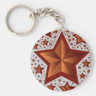 étoiles porte-clé rond