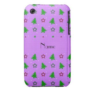 Étoiles pourpres en pastel nommées personnalisées étuis iPhone 3