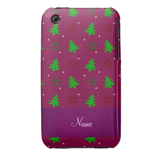 Étoiles pourpres personnalisées de Noël de prune Coques iPhone 3 Case-Mate