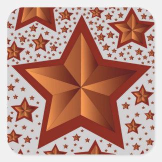 Étoiles Sticker Carré