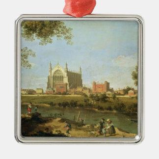 Eton College, c.1754 Silver-Colored Square Ornament