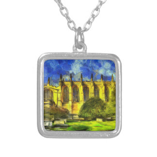 Eton College Chapel Art Silver Plated Necklace