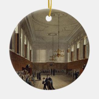 Eton School Room, from 'History of Eton College', Round Ceramic Ornament