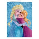 Étreindre d'Anna et d'Elsa Carte De Vœux