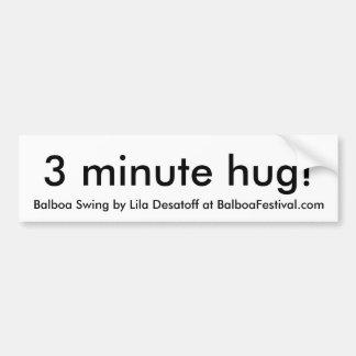 étreinte 3 minute ! , Oscillation de Balboa par Li Autocollant De Voiture