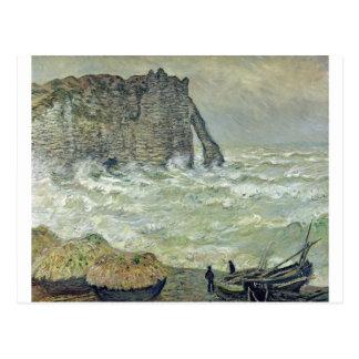 Étretat, Rough Sea (1883) Postcard