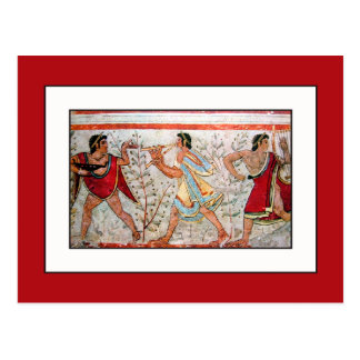 Etruscan Dancer and Musicians Postcard