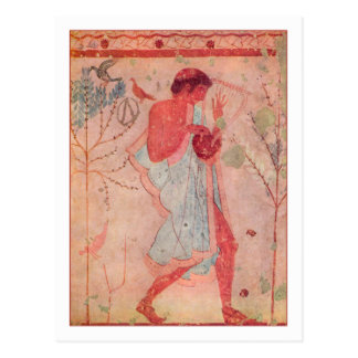 Etruscan Musician Postcard