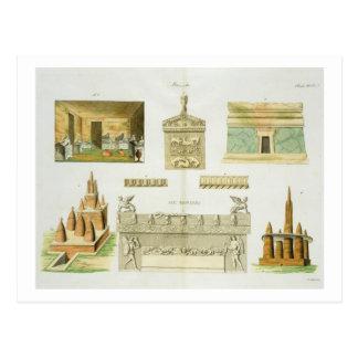 Etruscan sarcophagi and sepulchres, plate 7, class postcard
