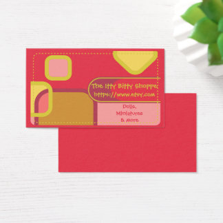Etsy Shop Color Blocks Business Card
