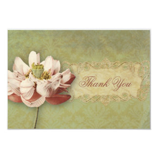 Etude de Fleurs Vintage Wedding Thank You Card