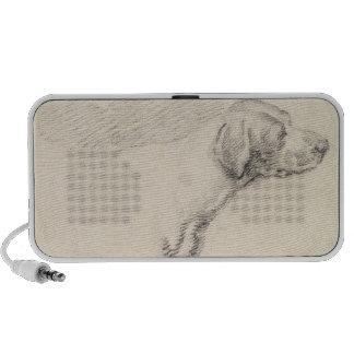 Étude d'un chien, 1794 (crayon sur le papier) haut-parleur iPod