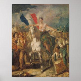 """Étude pour la """"liberté"""", 1830 posters"""
