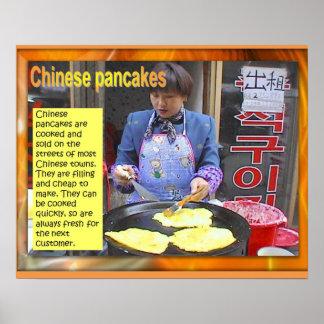 Études de nourriture, Chinois, crêpes Poster