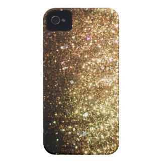 Étui iPhone 4 Cas de Noël d'iPhone de parties scintillantes d'or