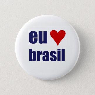 eu amo brasil 2 inch round button