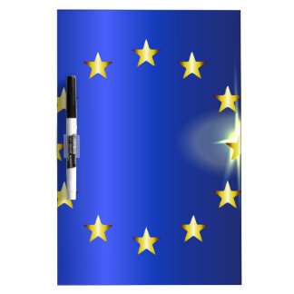 EU Bright Flag Dry Erase Board