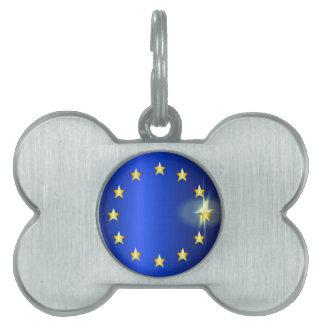 EU Bright Flag Pet Tag