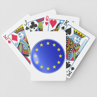 EU Button Bicycle Playing Cards