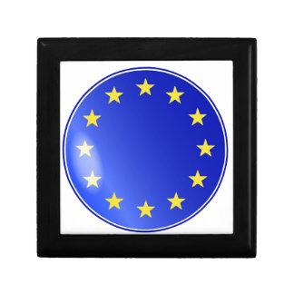 EU Button Jewelry Box